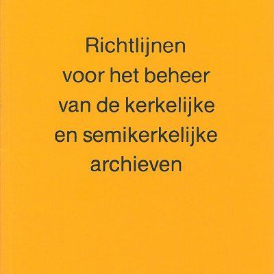 webwinkel - richtlijnen archiefbeheer