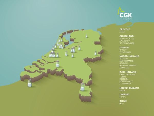 CGK pioniersplekken op de kaart
