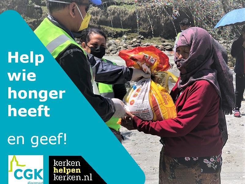 Help wie honger heeft en geef!