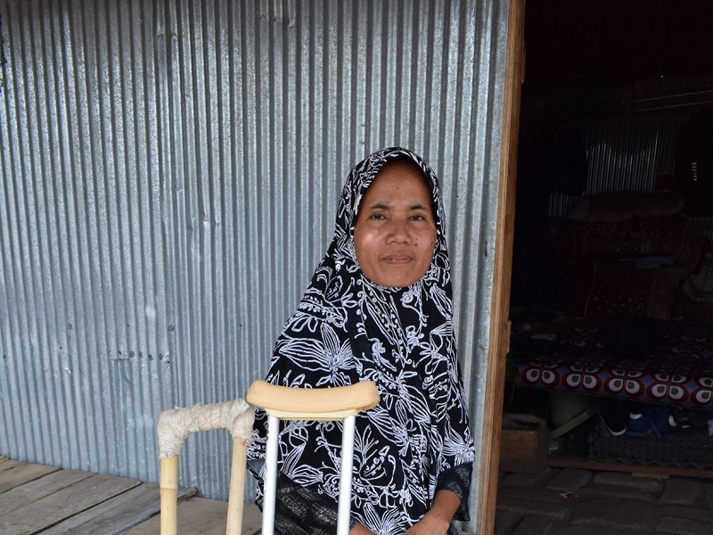 Munirah kan weer lopen