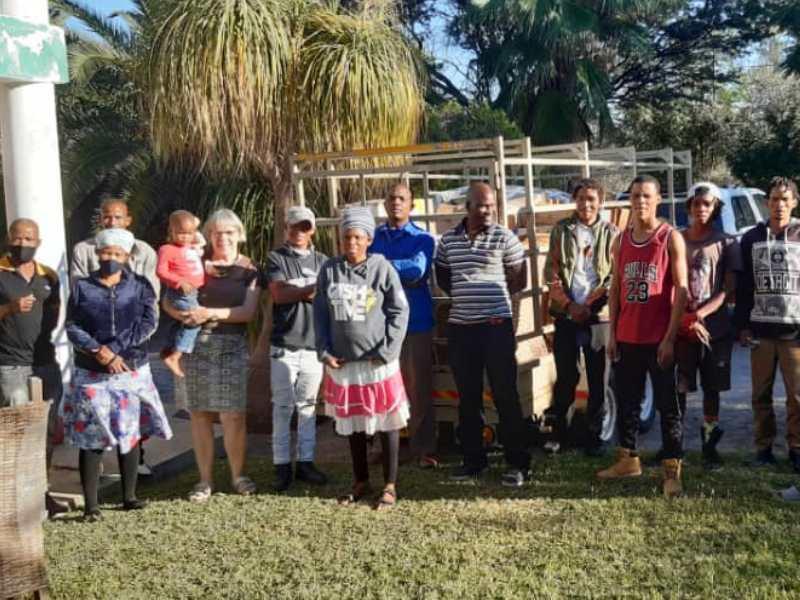 familie Visser Botswana